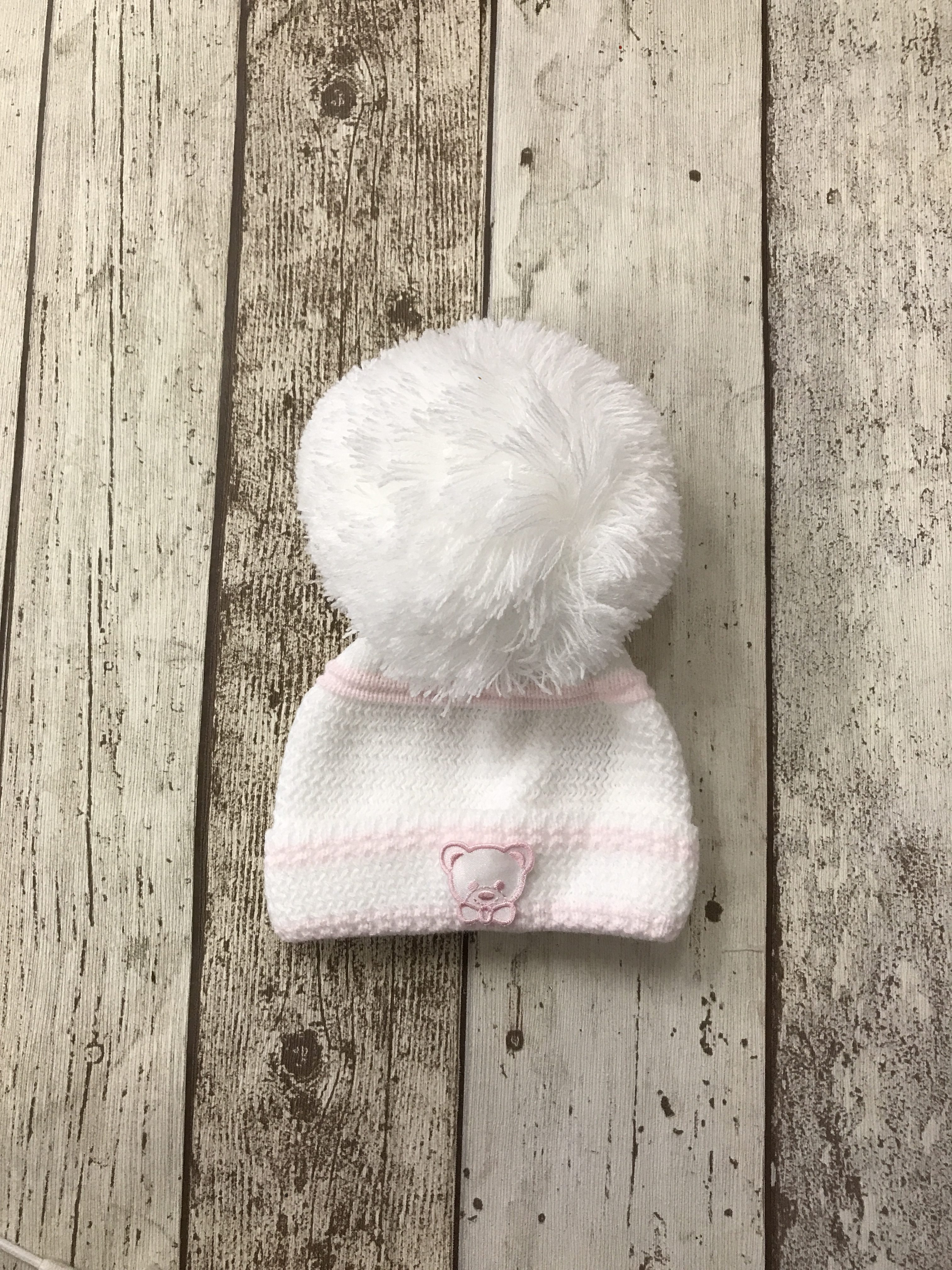Spanish Teddy Bear PomPom Hat - Storky Baby and Childrenswear 533a9141671